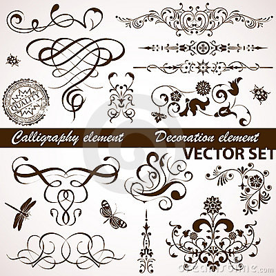 Free Calligraphic And Floral Element Stock Photos - 18806063