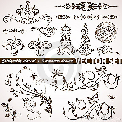 Free Calligraphic And Floral Element Stock Images - 18829434