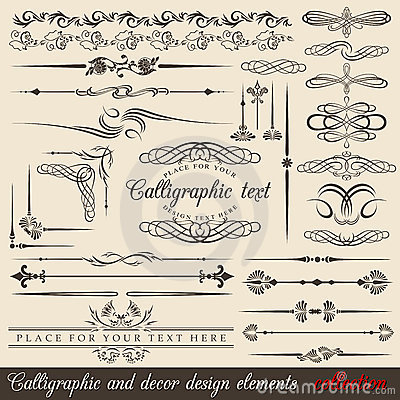 Free Calligraphic Design Elements Stock Image - 18118531