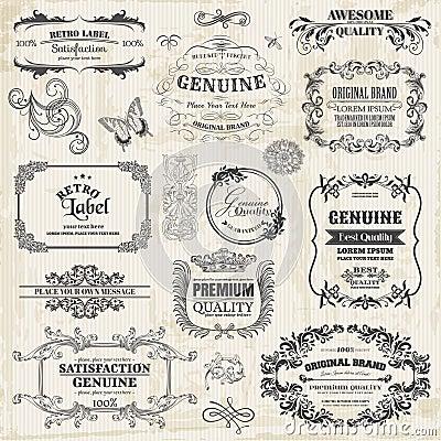 Free Calligraphic Design Elements Royalty Free Stock Image - 30323156