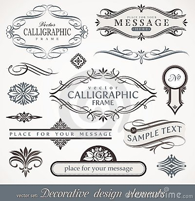 Calligraphic design elements & page decor
