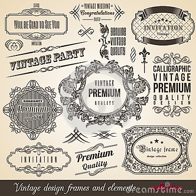 Free Calligraphic Element Border Corner Frame Collectio Royalty Free Stock Images - 31663799