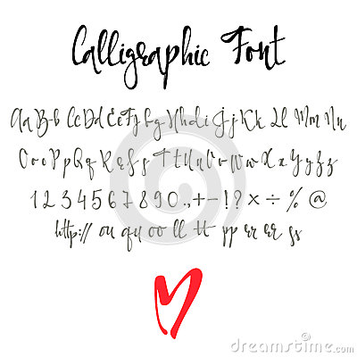 Calligraphic Font Stock Vector - Image: 55863799