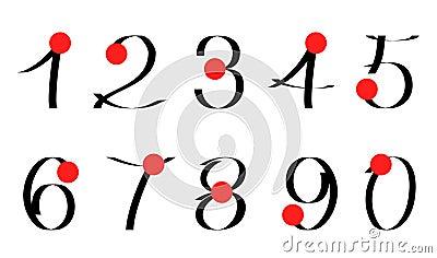 Calligraphic numerals