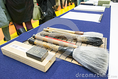 Calligraphy brushes