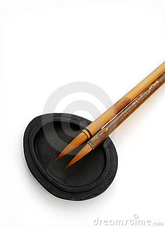Calligraphy brushes writing materials