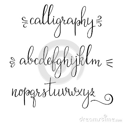 pointed pen ink style modern calligraphy cursive font. Calligraphy ...