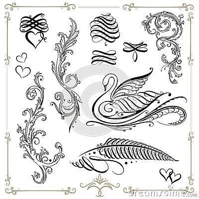 Free Calligraphy, Design Elements Stock Photos - 33576343