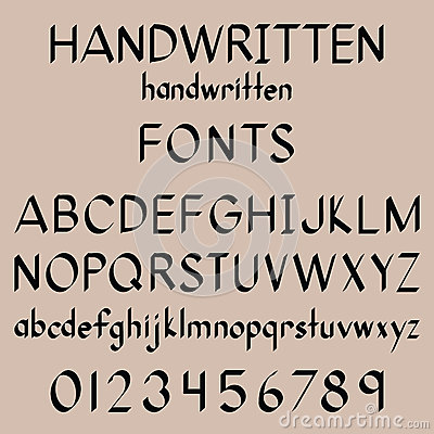 Free Calligraphy Fonts Royalty Free Stock Photography - 50672507