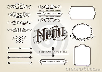 Calligraphy Menu Set