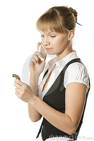 Free Calling In A Hurry Stock Photography - 8722742