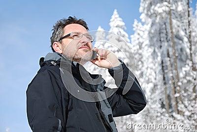 Calling mountaineer