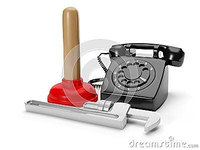 Calling plumbing repair