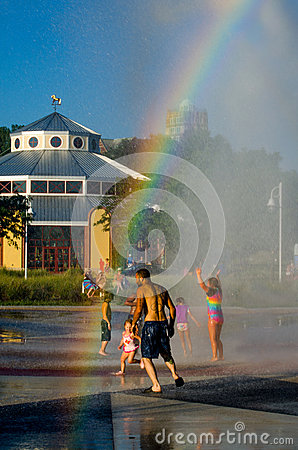 Calling rainbows Editorial Stock Image