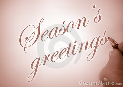 Callligraphy season s greetings