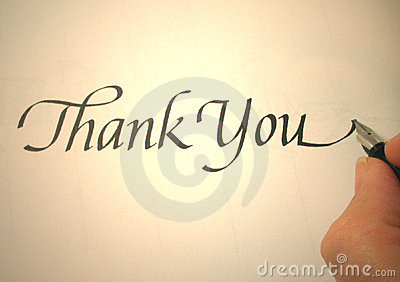 Callligraphy thank you
