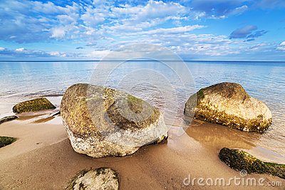 Calm Baltic sea scenery.
