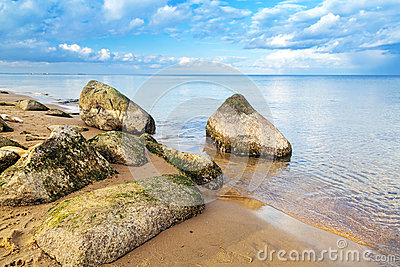 Calm Baltic sea scenery
