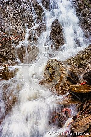 Calm cascade scene