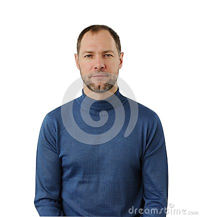 Free Calm Man In Blue Royalty Free Stock Image - 28831226