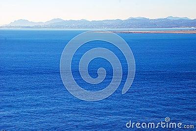 Calm Mediterranean Sea on a sunny day