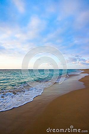Calm ocean during sunrise