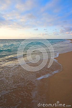 Calm ocean on tropical sunrise