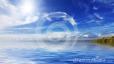 Calm seas and blue skies