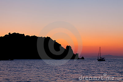 Calm Sunset At Giglio Island