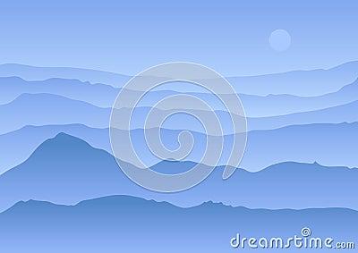 Calm vector landscape