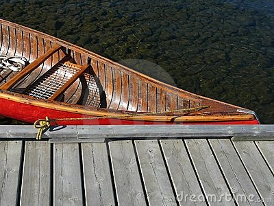 Calm Water Lake Canoe Dock