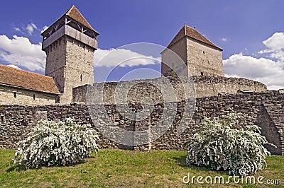 Calnic medieval fortress in Transylvania Romania
