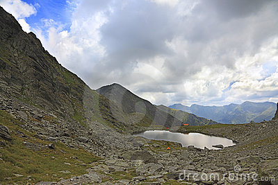 Caltun Lake in Fagaras Mountains ,Romania