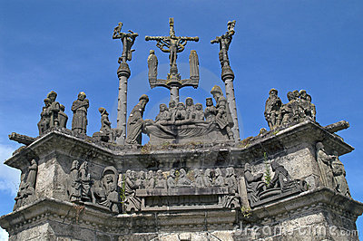 Calvary in Brittany, France