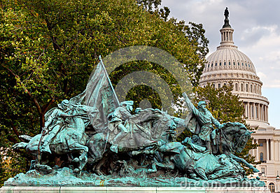 Calvary Charge US Grant Statue Civil War Memorial Capitol Hill W