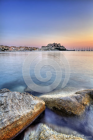Calvi city sunrise