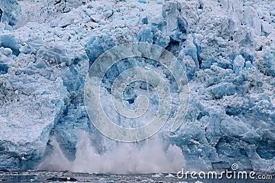 Calving Glacier - Hubbard Glacier, Alaska