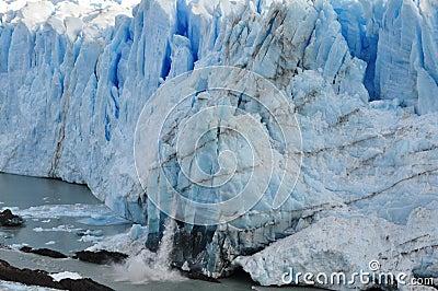 Calving ice
