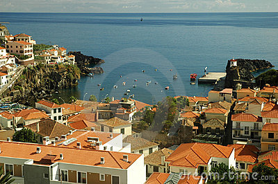 Camara dos lobos, harbor in Madeira