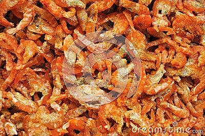 Camarón seco preservado