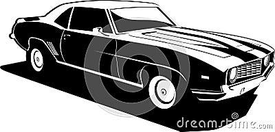 Camaro Branco on Camaro Preto E Branco Davidrey Dreamstime Com