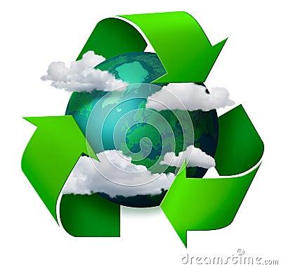 Cambiamento di clima che ricicla concetto