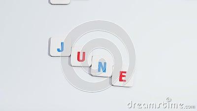 Cambio de meses en el fondo blanco Calendario Pare el movimiento almacen de video