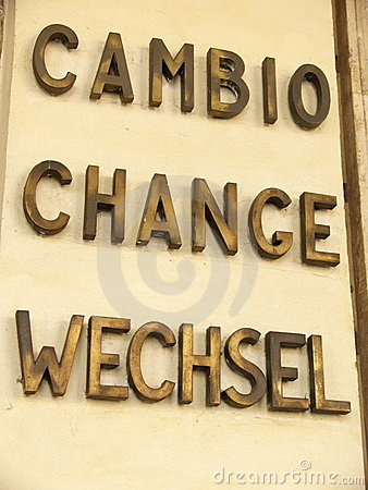 Cambio del dinero en circulación
