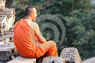 Cambodia monk Editorial Stock Photo