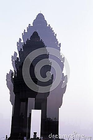 Cambodia niezależności pomnikowy penh phnom