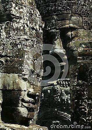 Cambodia Smile of Bayon Wat,Siem Riep
