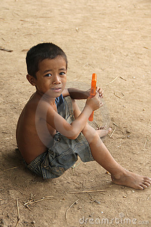 Cambodian Boy Editorial Image