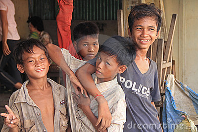 Cambodian Boy Editorial Stock Photo
