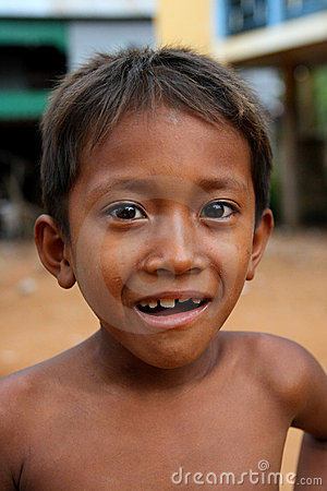 Cambodian Boy Smiling Editorial Image
